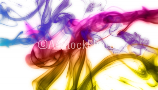 Colorful smoke background illustration