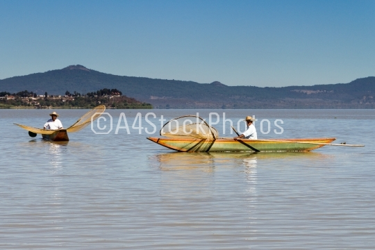 Fishermen on Lake Patzcuaro