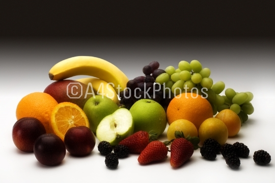 Fruit with dark background