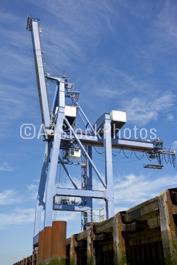 Huge dockside crane at Felixstowe
