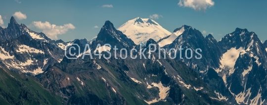 In the mountains of the Caucasus