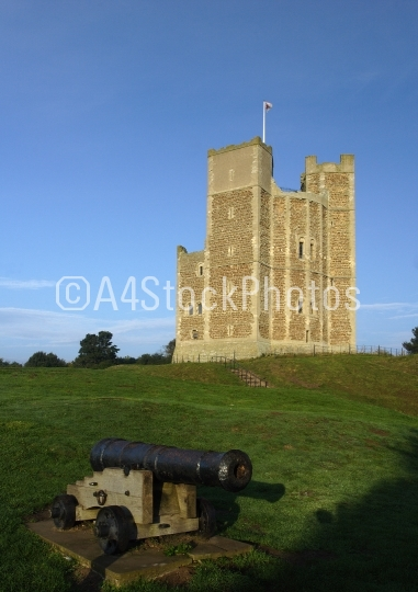 Orford castle with cannon