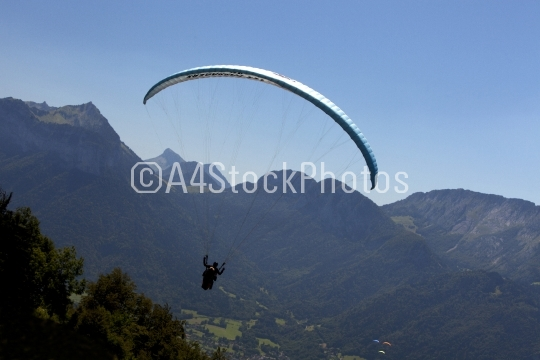 Paragliding over the French Alps