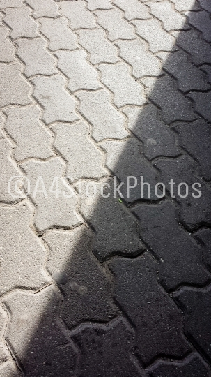 Pavement pattern with shadow