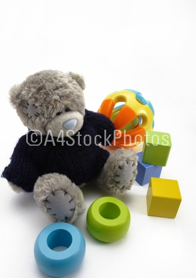 Teddy bear and toys
