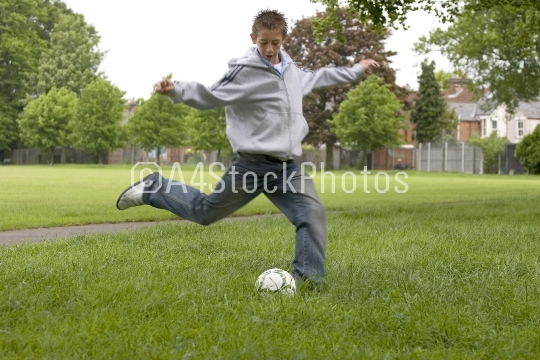 Teenage footballer