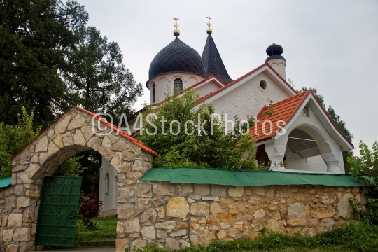 the stone Orthodox Church in summer in Russia