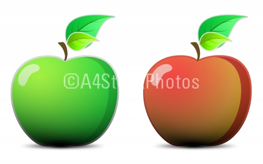 Two shiny apples