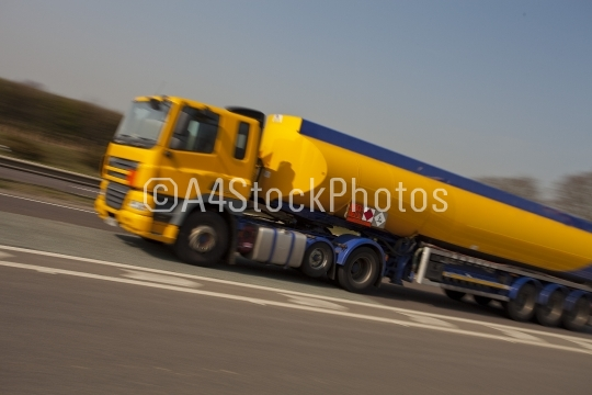 Yellow tanker